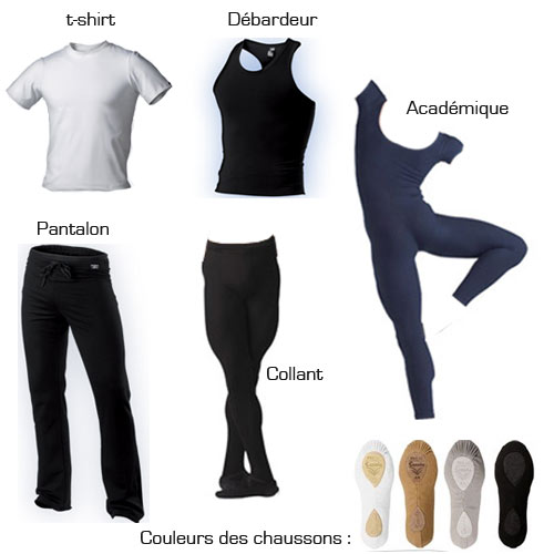 tenues pour danse classique homme