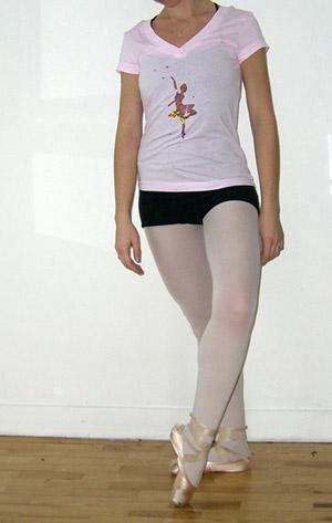 t-shirt danse classique rose