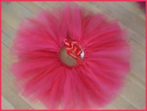 jupe tutu tulle fillette rose fuchsia caminès
