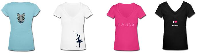 achat tshirt theme danse classique